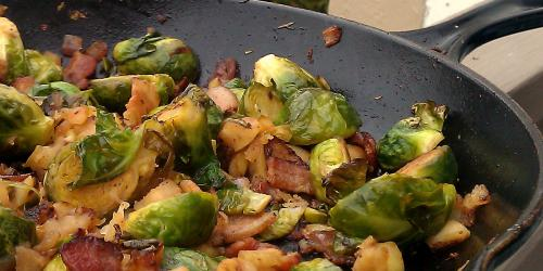 Sautéed Brussels Sprouts with Apples and Bacon - Southeast ...